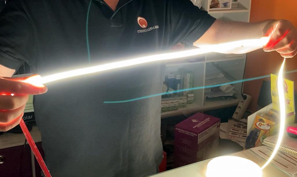 Nova fita COB LED: beleza e luminosidade contínua